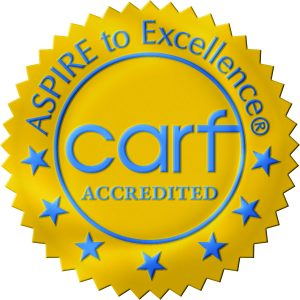 Official CARF seal of accreditation